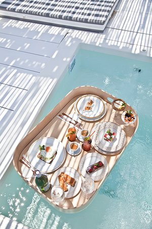 Ow Breakfast options, served in your Jacuzzi Pavilion