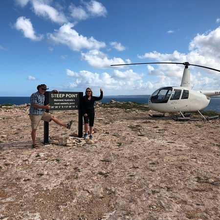 Helicopter to Steep Point