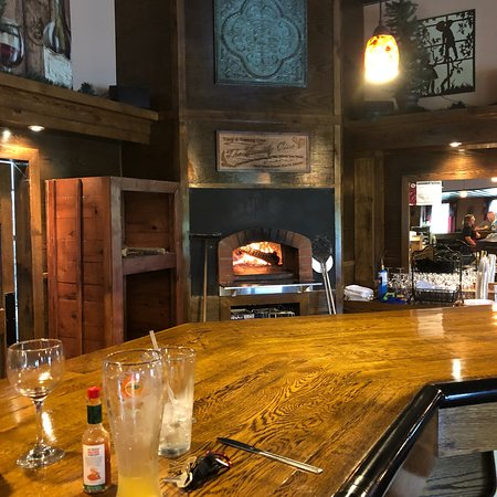 Greenville, IL: Great relaxing atmosphere, excellent wine and pizza.  They also have a variety of cheese, meat a