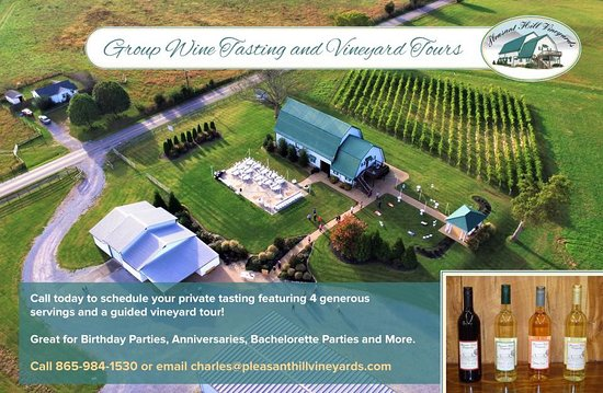 Maryville, TN: Group Wine Tasing and Vineyard Tours by Appointment.