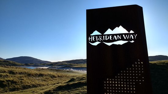 The start (or finish) of the Hebridean Way at Vatersay