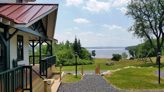 View of Piseco Lake from the newly expanded wrap-around porch