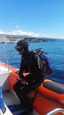 Scuba diving Deep blue