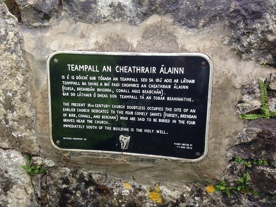 Inishmore, Ireland: Sign on the Church Wall