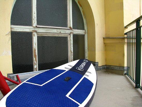Hotel Post: balcon bien pratique