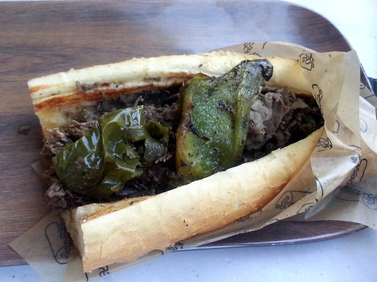 Harwood Heights, IL: regular Buona beef with sweet peppers