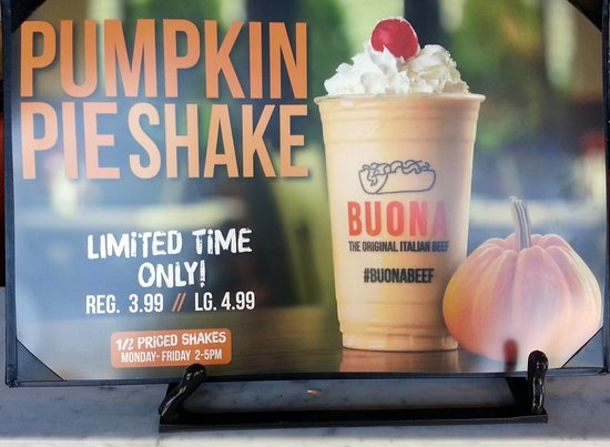 Harwood Heights, IL: it's that time - a pumpkin pie shake