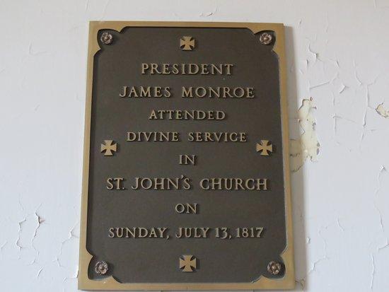 St. John's Episcopal Church: historical visitor