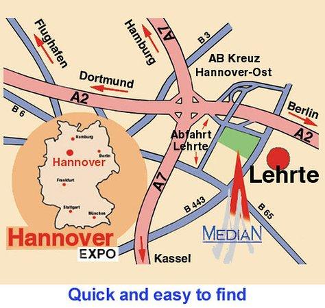 Lehrte, Duitsland: Map