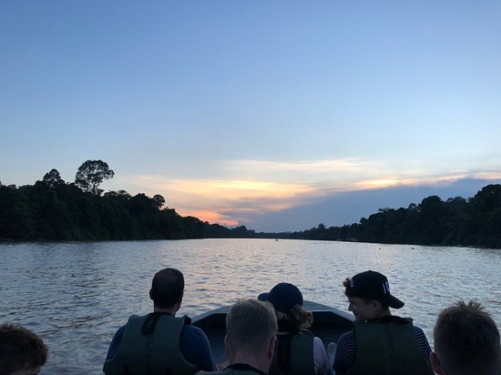 Район Кинабатанган, Малайзия: Sunset on the River