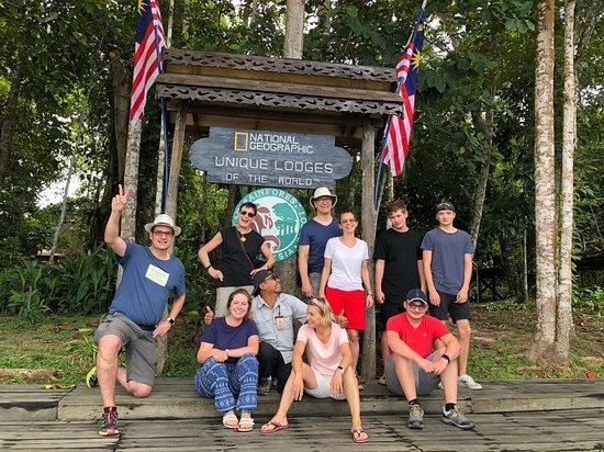 Kinabatangan District, Malaysia: Our group