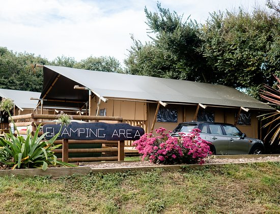The glamping/safari area