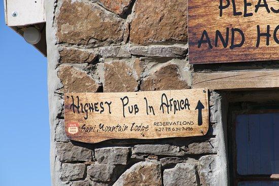 Sani Pass, Südafrika: highest pub in Africa obvious