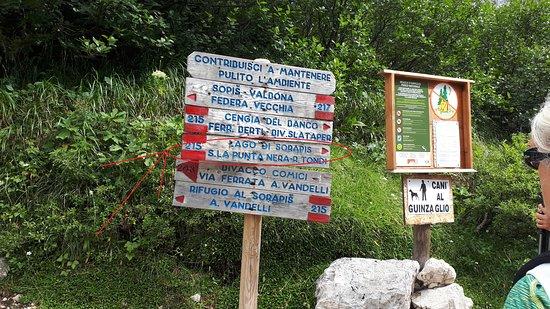 Lago di Sorapiss: qui andare a destra
