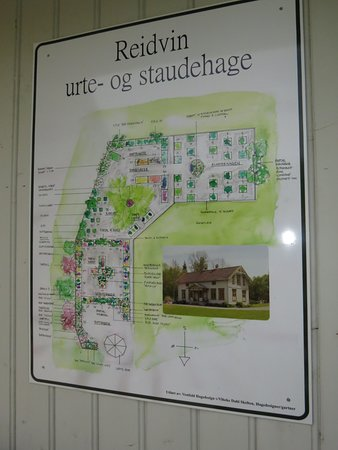 Holmestrand, Norwegia: Map showing what plants you can find in the garden