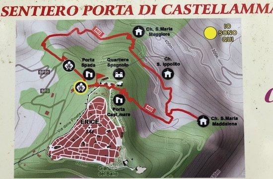Porta di Castellamare: Mappa del versante Nord di Monte San Giuliano ( Erice ) !