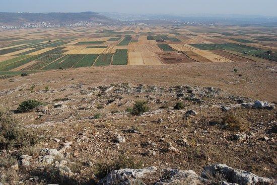 Kfar Cana, Israel: khirbet qana looking south towards Nazareth atop the hill in the far distance.
