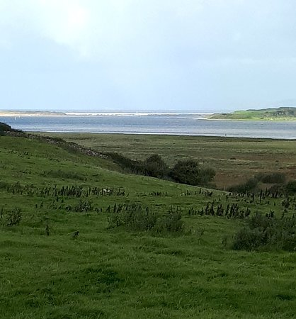 A view of the Erne Estuary from Campview Farm at Ballyshannon flowing into Donegal Bay