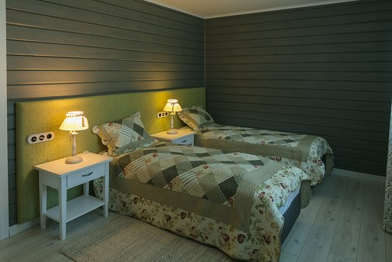 Leningrad Oblast, Ρωσία: Спальня в коттедже.