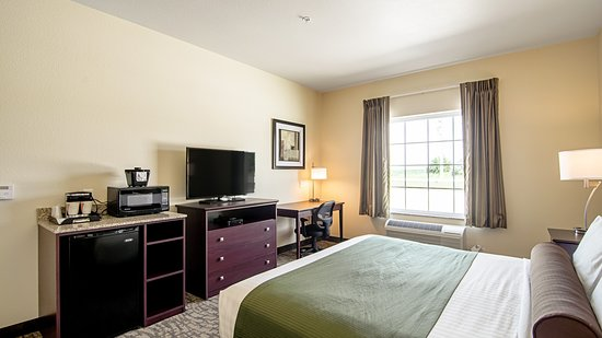 Paxton, IL: Single King Guestroom With A Microwave, Refrigerator,In Room Coffee Station,Flat Screen TV