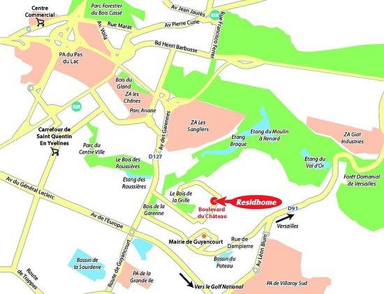 Guyancourt, فرنسا: Map