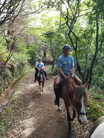 Santo da Serra, Portugal: A complete novice out on his first ever ride! Well done..