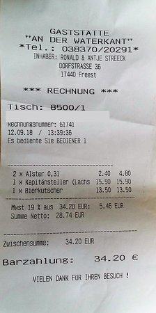 Freest, Niemcy: meine Rechnung