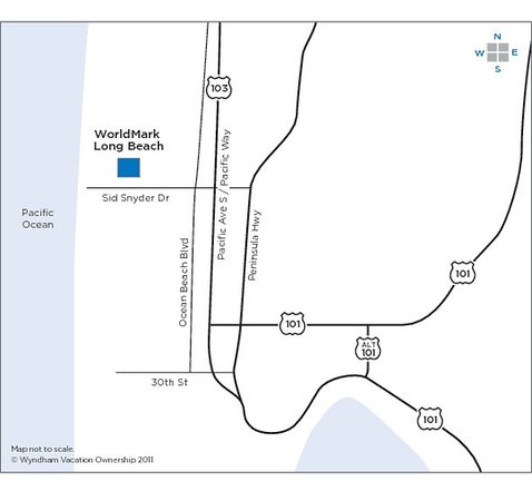 Worldmark Long Beach: Map