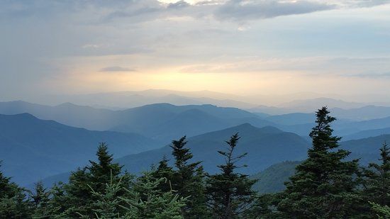 Burnsville, Северная Каролина: On top off the Summit Trail...Mt.Mitchell...I took this photo at sunset.