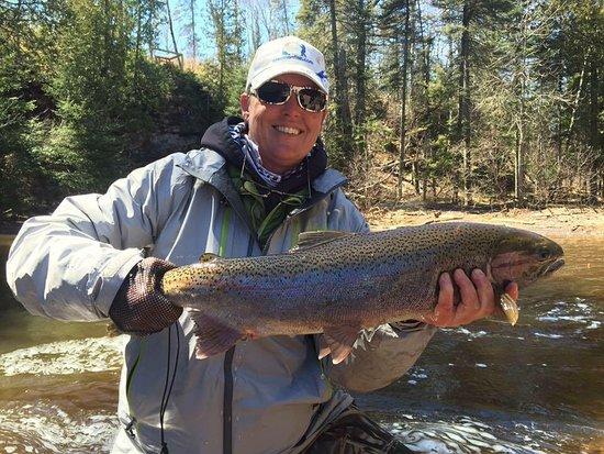 Avon, MN: River Steelhead fishing with Slab Seeker