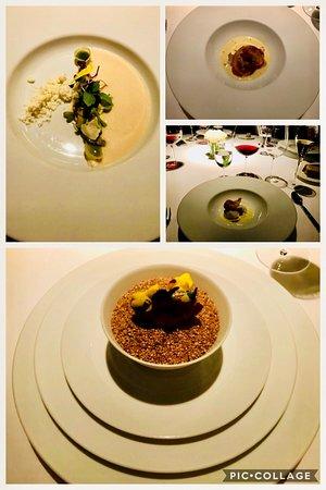 Fotocomposicion de recetas de nuestra experiencia Gastronomica en ATRIO