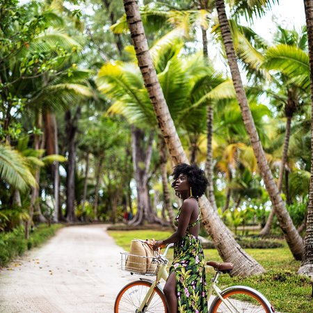Desroches Island, Seychelles: Riding a bike between the coconut trees is the most amazing thing ever- feels like a tropical pa