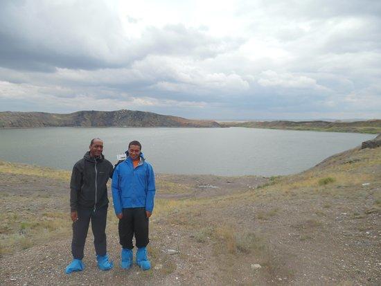 Lake Chagan: lake in background