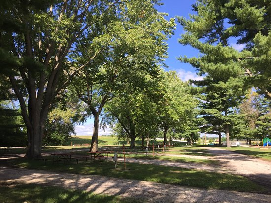 Geneseo, IL: A beautiful, well-tended setting with lots of shade trees.
