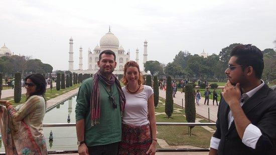 In front of Taj Mahal