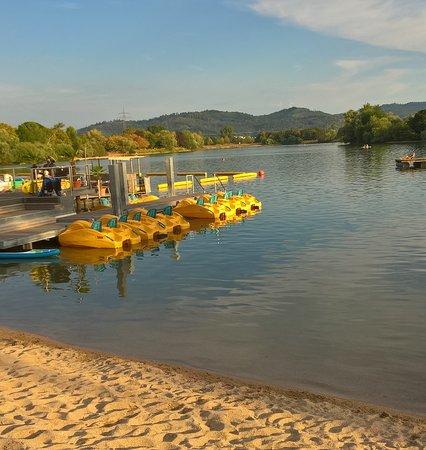 Offenburg, Germany: Abendstimmung am Gifizsee