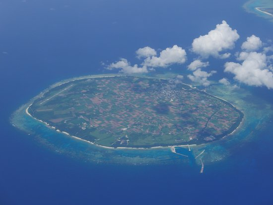 Tarama-son, Japonia: きれいに多良間島全体が見えました。