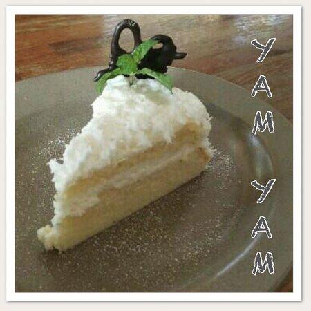 Soft Coconut Cake at YAM YAM Thai & Western Restaurant Jepara Indonesia