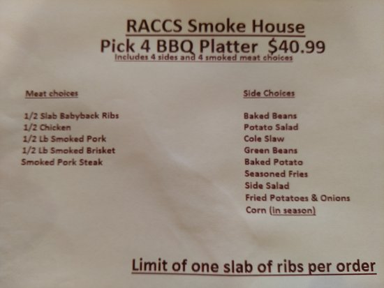 Eldon, MO: Just added family style bbq platter  pics coming soon