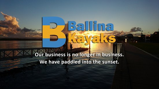 Μπαλίνα, Αυστραλία: Ballina Kayaks is no longer in business.