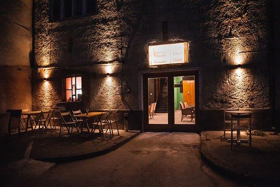 Prizren, Kosovo: Lumbardhi Cafe at Night
