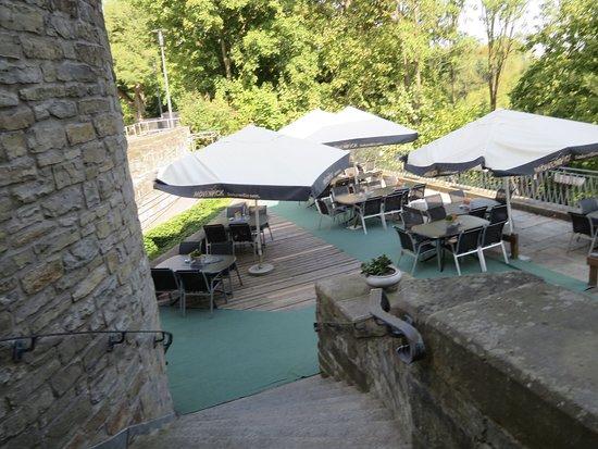 Buren, Germany: Schön gelegene Terrasse