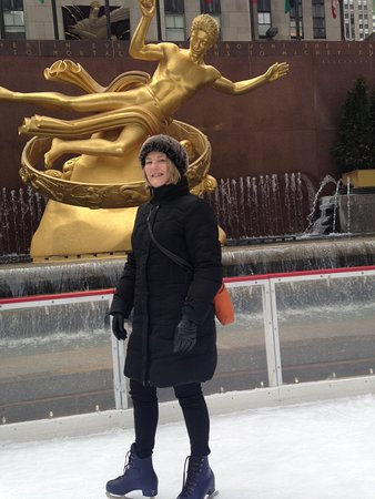 Me skating at the famous Rockefeller Center skating rink in New York City.