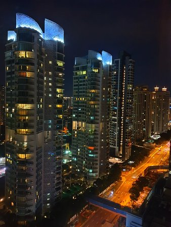 Great World Serviced Apartments: City lights View from our window