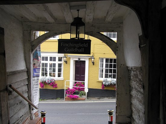 Finchingfield, UK: View through the entrance way