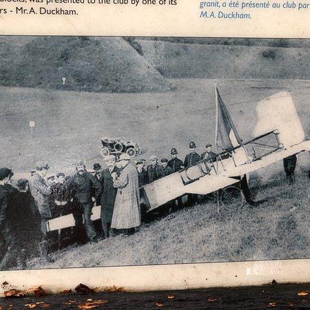 1909 Landing, Bleriot In Flying Helmet
