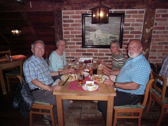 Middelhagen, Germany: Im Obergeschoss war das Ambiente sehr schön und das Essen ausgezeichnet