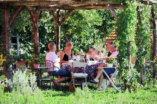 Azienda Agricola Poggio La Luna: Winetasting in the garden