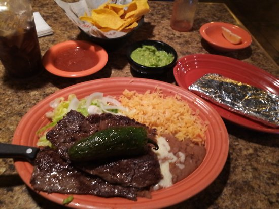 Blythewood, SC: Carne Asada, rice and Beans and Guacamole side