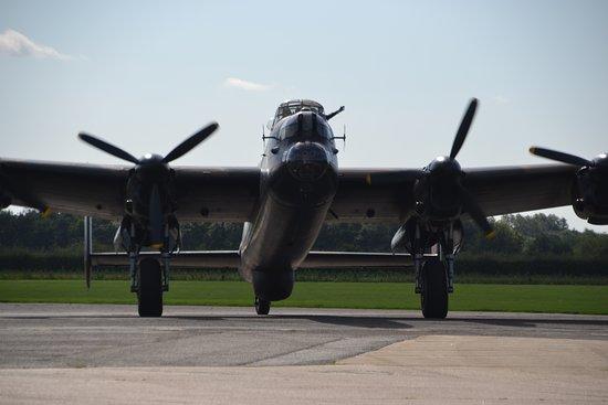 East Kirkby, UK: Lancaster just Jane returning to the base.
